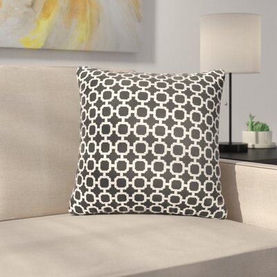 Samantha Geometric Indoor/ Outdoor Throw Pillows Size: 18 H x 18 W x 6 D, Color: Black