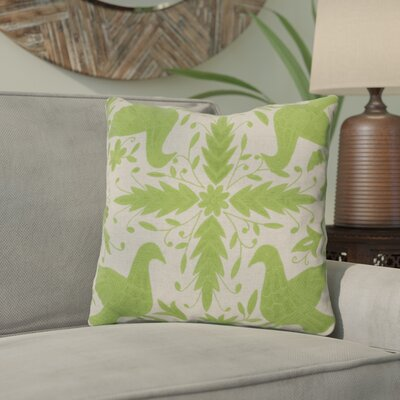 Clayton Throw Pillow Size: 18 H x 18 W, Color: Oatmeal / Peridot, Filler: Down