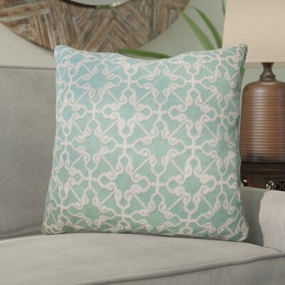Domenique Embroidered Chain Stitch Throw Pillow Color: Turquoise