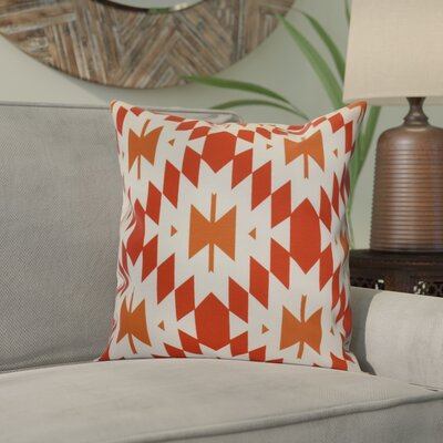 Soluri Geometric Outdoor Throw Pillow Size: 20 H x 20 W x 2 D, Color: Orange