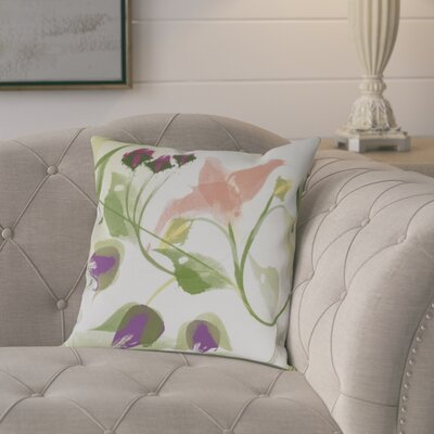 Roscoe Windy Bloom Floral Throw Pillow Size: 18 H x 18 W, Color: Coral