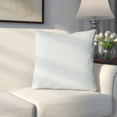 Russell Throw Pillow Size: 18 H x 18 W x 4 D, Color: Silver Gray / Silver