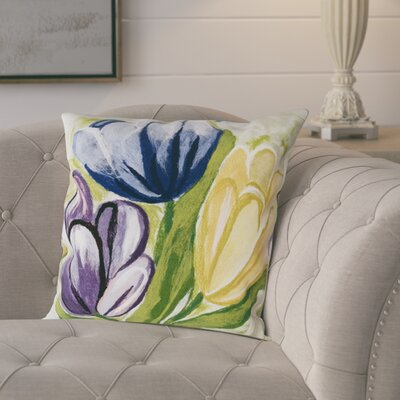 Tulips Indoor/Outdoor Throw Pillow Size: 13 x 20, Color: Cool