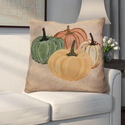 Miller Paper Mache Pumpkins Geometric Euro Pillow Color: Taupe