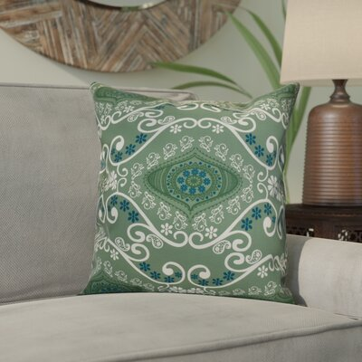 Soluri Illuminate Geometric Throw Pillow Size: 16 H x 16 W x 2 D, Color: Green