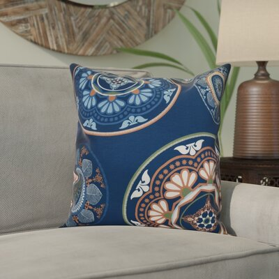 Soluri Medallions Throw Pillow Size: 16 H x 16 W x 2 D, Color: Blue