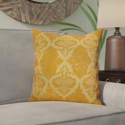 Soluri Geometric Throw Pillow Size: 20 H x 20 W x 2 D, Color: Gold