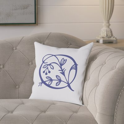 Attina Personalized Floral Initial Throw Pillow Letter: Q