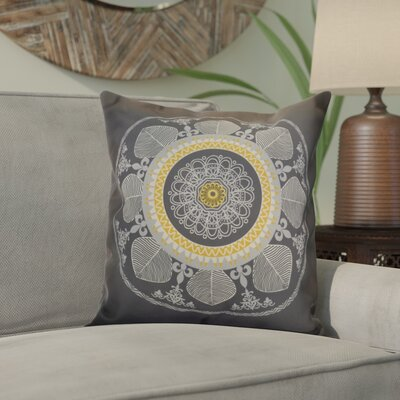 Soluri Stained Glass Geometric Throw Pillow Size: 16 H x 16 W x 2 D, Color: Gray