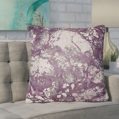 Konnor Indoor/Outdoor Square Throw Pillow Color: Charcoal