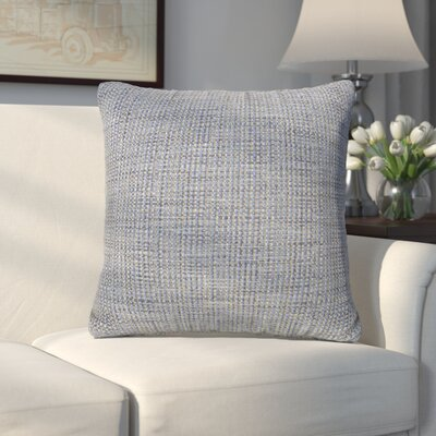 Abraham Texture Coco Soft Burlap Throw Pillow Color: Sapphire, Size: 20 H x 20 W