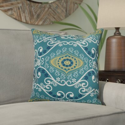 Soluri Illuminate Geometric Throw Pillow Size: 16 H x 16 W x 2 D, Color: Blue