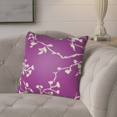 Teena Throw Pillow Size: 18 H x 18 W x 4 D, Color: Magenta