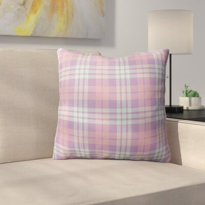 Malvina Plaid Indoor/Outdoor Throw Pillow Size: 18 H x 18 W x 4 D