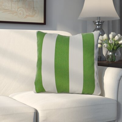 Amplas Stripe Throw Pillow Color: Cilantro