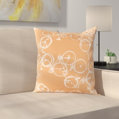 Camptown Throw Pillow Cover Size: 22 H x 22 W x 0.25 D, Color: OrangeNeutral