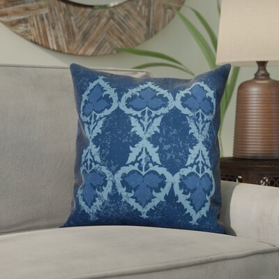 Soluri Geometric Outdoor Throw Pillow Size: 16 H x 16 W x 2 D, Color: Navy Blue