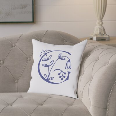 Attina Personalized Floral Initial Throw Pillow Letter: G