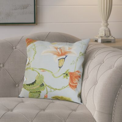 Keneth Floral Throw Pillow Color: Light Blue, Size: 22 x 22