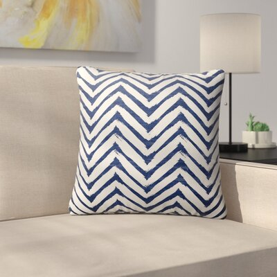 Leeanna Throw Pillow Size: 16 H x 16 W x 6 D, Color: Blue/ White