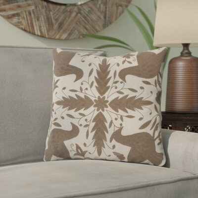 Clayton Throw Pillow Color: Oatmeal / Brindle, Size: 18 H x 18 W, Filler: Down