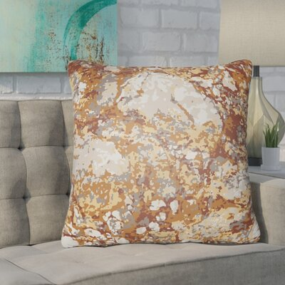 Konnor Indoor/Outdoor Square Throw Pillow Color: Rust