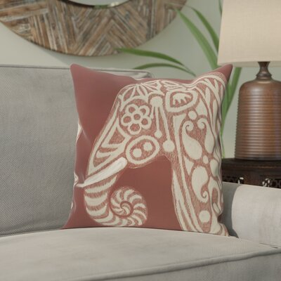 Essehoul Print Throw Pillow Size: 18 H x 18 W, Color: Brown