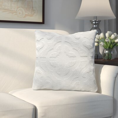 Oak Lane Mosaic Throw Pillow Color: Cotton