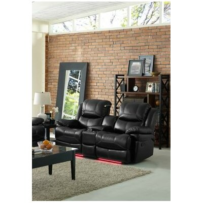 Carina Dual Reclining Console Loveseat Recliner Mechanism: Power Motion