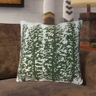 Joulon Hidden Forrest Throw Pillow Size: 16 H x 16 W, Color: Green