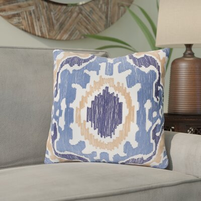 Ayaan 100% Cotton Throw Pillow Size: 18 H x 18 W x 3.5 D, Color: Denim