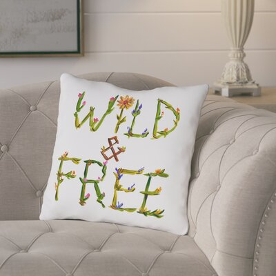 Ruiz Wild Free Throw Pillow Size: 18 H x 18 W x 3 D