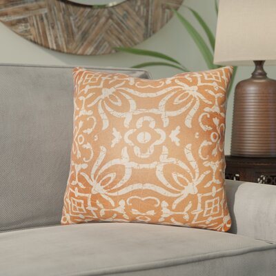 Libchava Indoor Throw Pillow Size: 20 H x 20 W x 4 D, Color: Orange