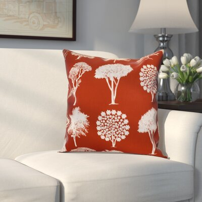 Miller Field of Trees Floral Throw Pillow Size: 16 H x 16 W x 2 D, Color: Dark Rust