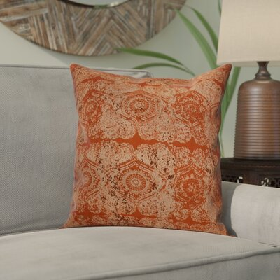 Soluri Patina Outdoor Throw Pillow Size: 16 H x 16 W x 2 D, Color: Orange / Rust