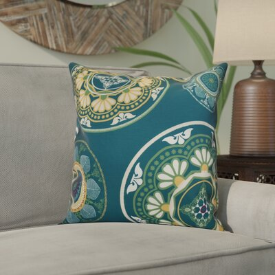 Soluri Medallions Throw Pillow Size: 18 H x 18 W x 2 D, Color: Teal