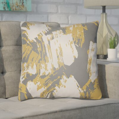 Konnor Throw Pillow Size: 20 H x 20 W x 5 D, Color: Yellow