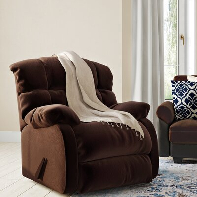 Barrington Manual Rocker Recliner Upholstery: Chocolate