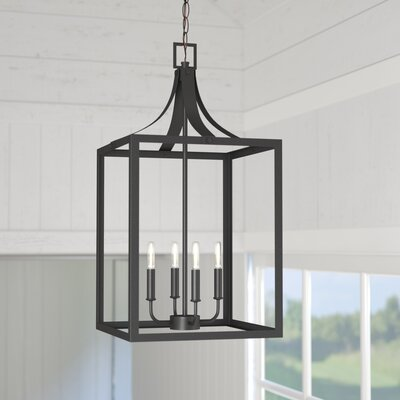 Sherri-Ann 60W 4-Light Foyer Pendant Finish: Black