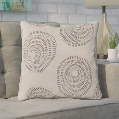 Maryanne 100% Cotton Throw Pillow Size: 22 H x 22 W x 4 D, Color: Beige/Charcoal