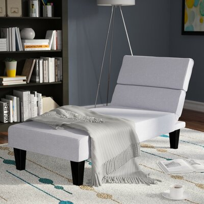 Harlowe Chaise Lounge Upholstery: Light Gray