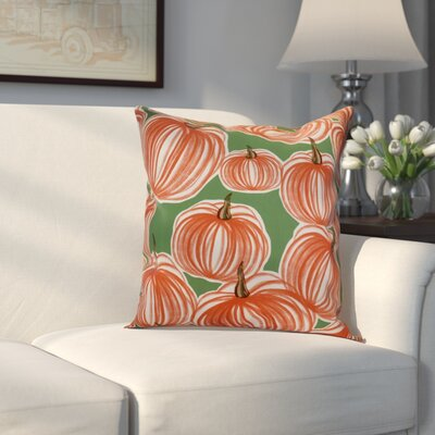 Miller Pumpkins-A-Plenty Geometric Outdoor Throw Pillow Size: 16 H x 16 W x 2 D, Color: Green