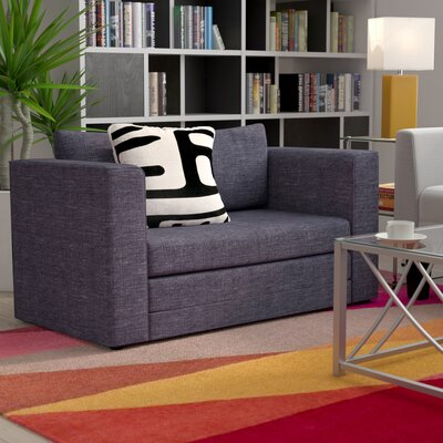 Earlene Sleeper Loveseat Upholstery: Dark Gray