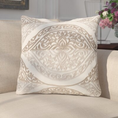 Parish Cotton Throw Pillow Color: Beige