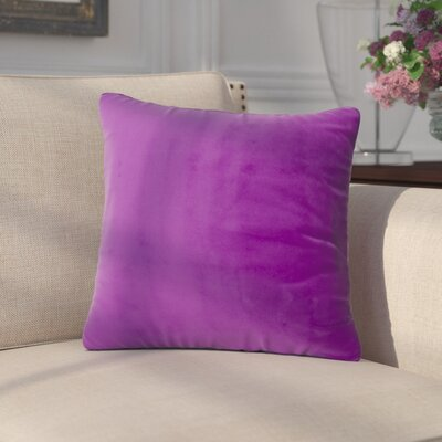 Arterbury Square Pillow Size: 16, Color: Purple Pansy