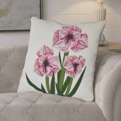 Amanda Amaryllis Floral Print Euro Pillow Color: Pink