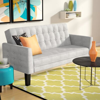 Greg Tufted Sleeper Sofa Upholstery: Gray