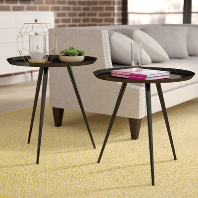 Calle 2 Piece Nesting Tables Color: Brushed Copper