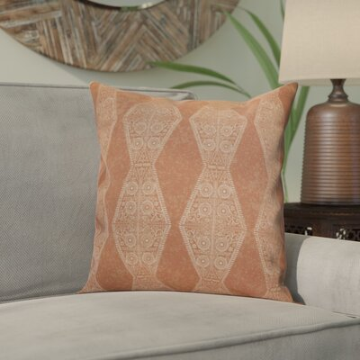 Soluri Pyramid Striped Geometric Outdoor Throw Pillow Size: 16 H x 16 W x 2 D, Color: Orange