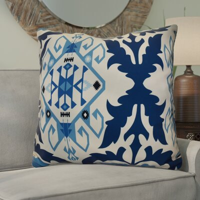 Soluri 6 Geometric Euro Pillow Color: Navy Blue